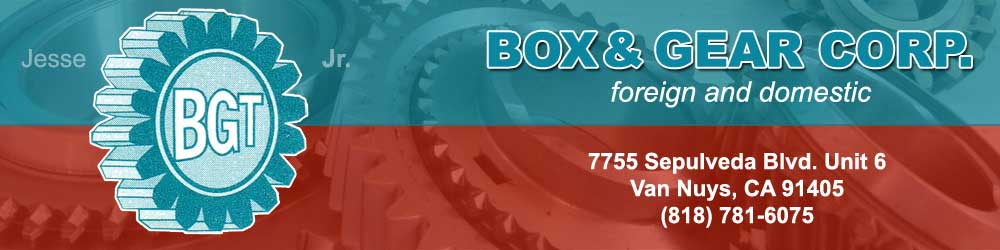 box and gear transmissions logo