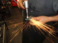 grinding a transmission gear